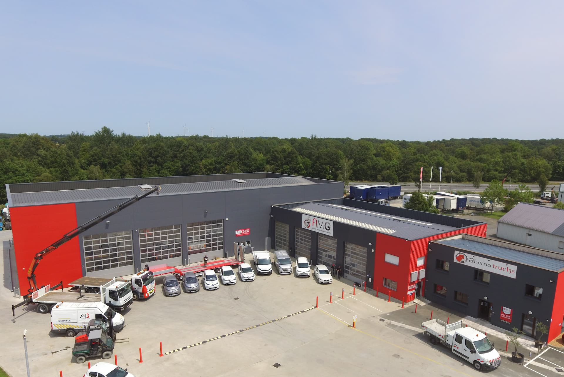 Photo aérienne Ahema Trucks